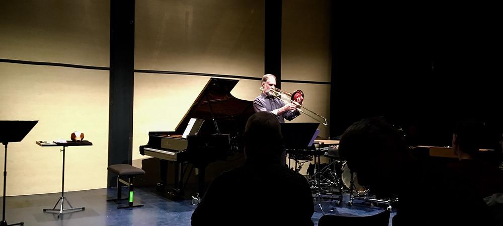 Bruce Collings. Studio der Musikfabrik im Mediapark. Ensemble Musikfabrik. Werke von: George Lewis, Anthony Braxton, Mike Svoboda.
