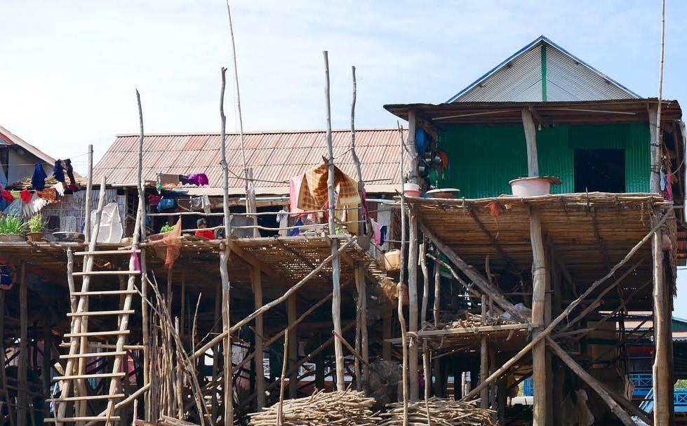 Maison sur pilotis Kampong Phluk