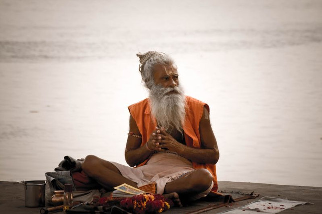 A_sadhu_by_the_Ghats_on_the_Ganges,_Vara