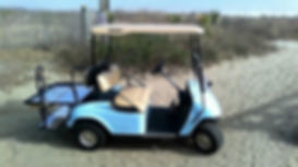 Our four seat golf cart can be rented on folly beach, sullivan's island, or Charleston