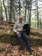 Bill on break in Schoener Forest