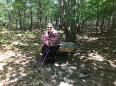 Elaine V. at our Age-Friendly Nature Trail