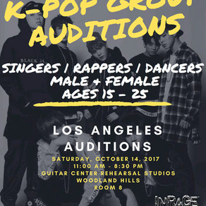 InRage Entertainment Open Auditions:       K-POP Groups