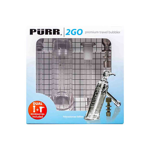 Purr2GO Travel Bubbler & Dab Rig Combi