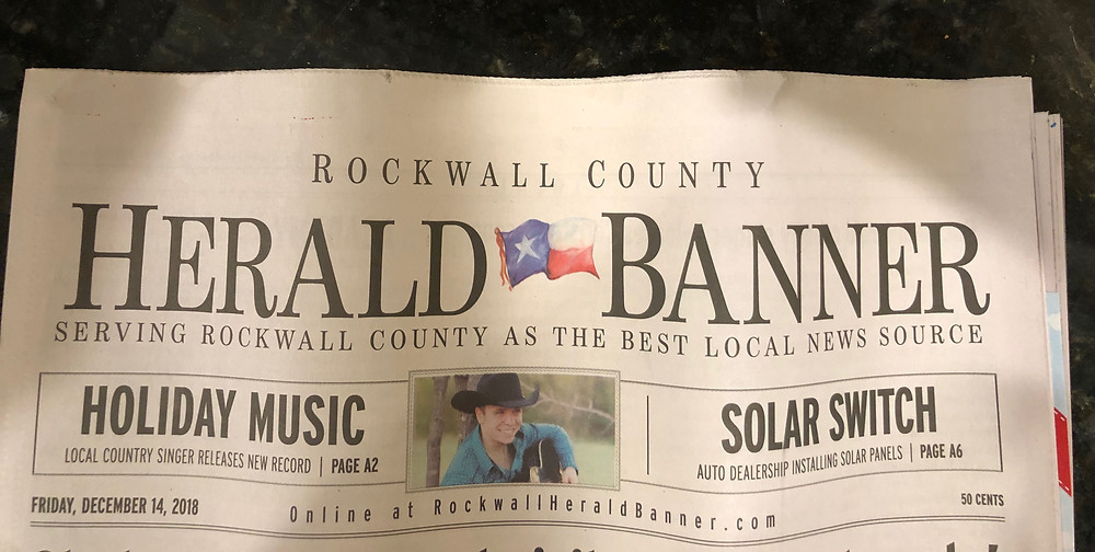 Rockwall County Herald Banner Taylor Lewis