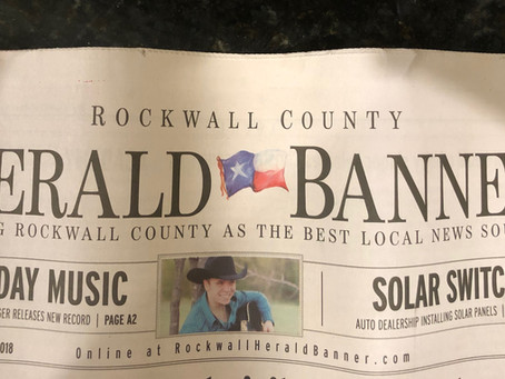 Interview in the Rockwall County Herald Banner