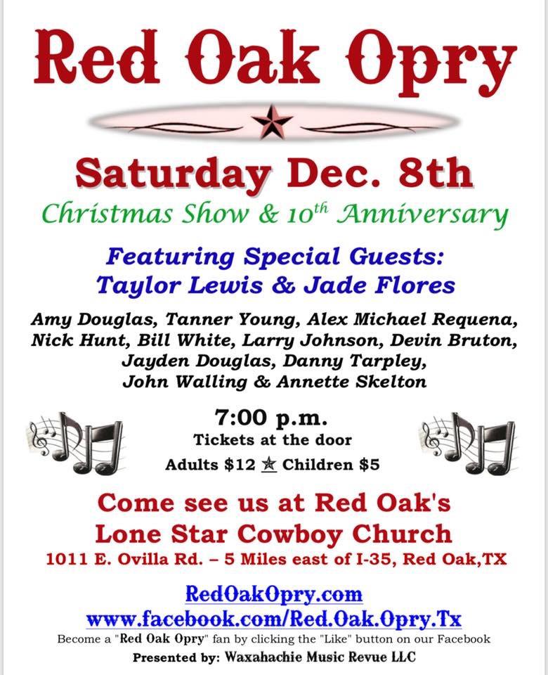 Red Oak Opry Taylor Lewis December 2018