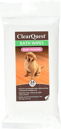 ClearQuest Bath Wipes - Alcohol-Free Wipes for Cleaning and Deodorizing 24ct