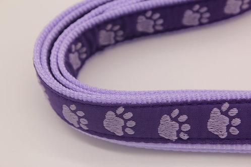 Casual Canine Two Tone Pawprint Nylon Collar & Leash Sets
