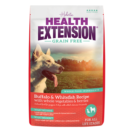 Health Extension Grain Free Buffalo & Whitefish Recipe 4-lb Bag
