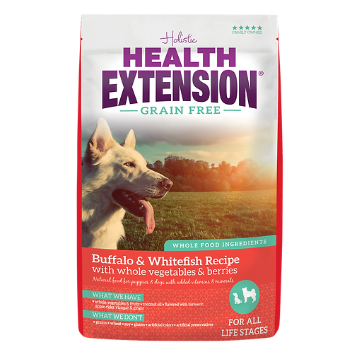 Health Extension Grain Free Buffalo & Whitefish Recipe 4-lb Bag