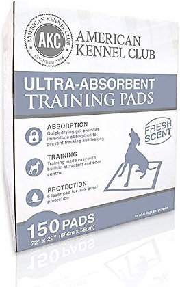 AKC Ultra Absorbent Training Pads 150ct
