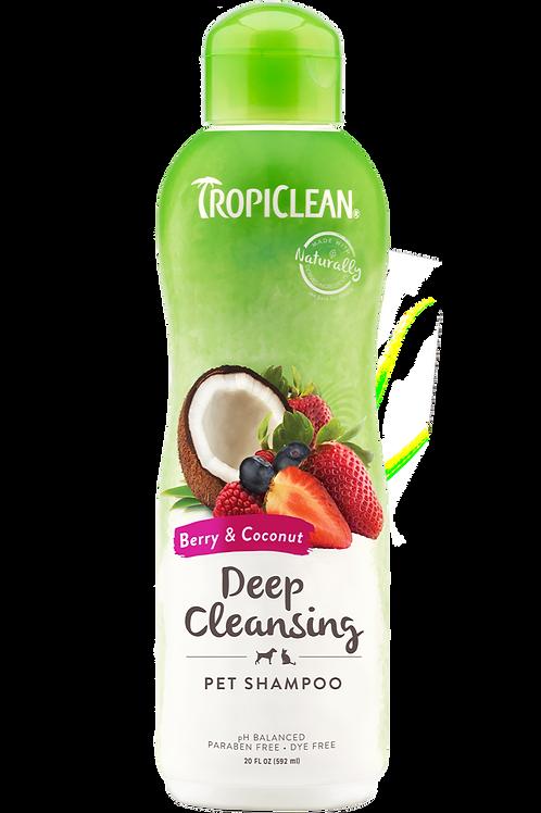TropiClean Berry & Coconut Pet Shampoo 20oz