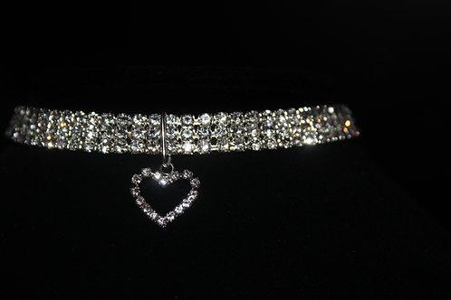 Diamond Studded Necklace - Heart