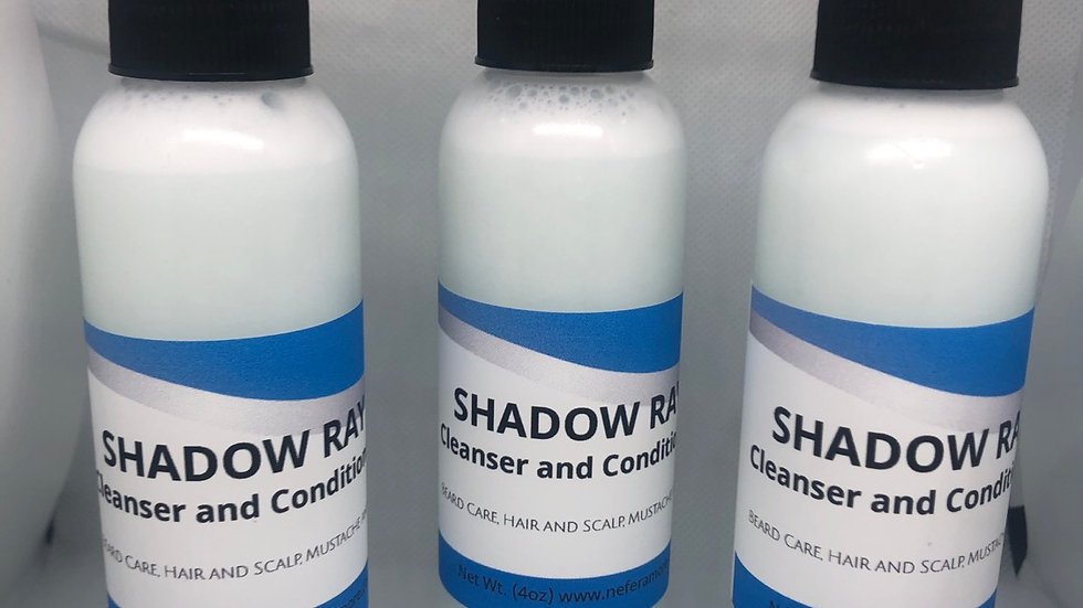 Shadow Ray/ Hair, Scalp and Beard Cleanser and Conditioner 4oz