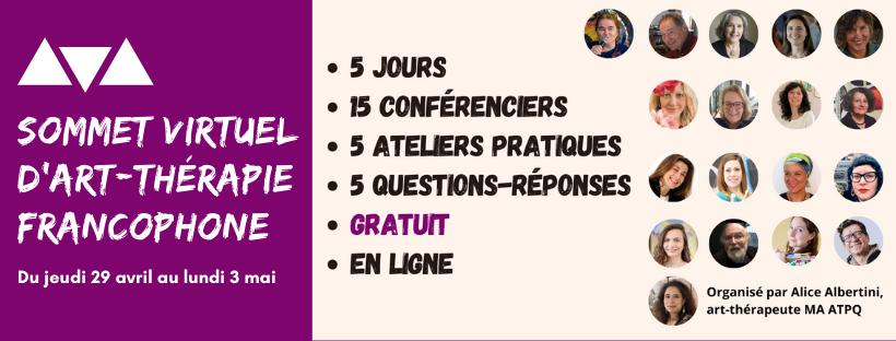 Sommet virtuel d'art-thérapie francophone