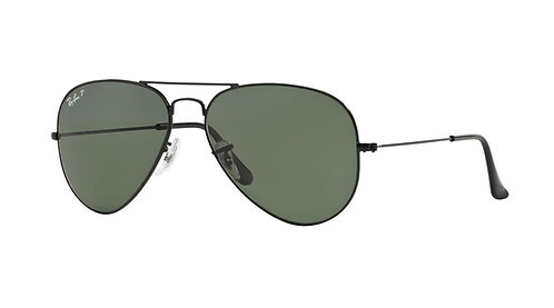 Ray Ban 3025 002-58 Polarized Aviator 58 Sunglasses