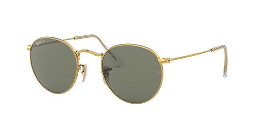 Ray Ban Round Metal Polarized 3447 001/58 Sunglasses