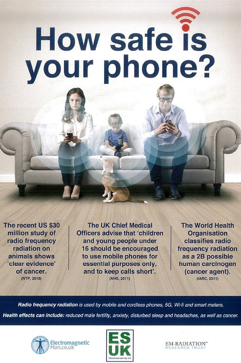 ESUK005 HOW SAFE IS YOUR PHONE POSTER