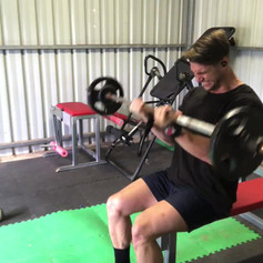 Wide Grip and Close Grip Bicep Curl Superset Seated