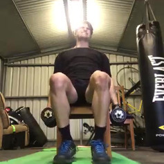Front raises leaning back and forwards
