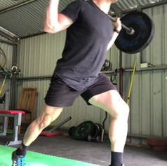 Raised BB Lunges