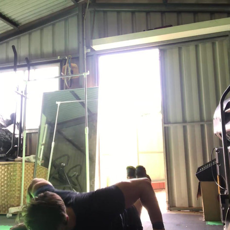 Brick Pushups for incline