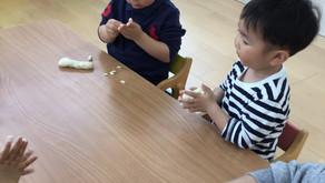 【えみたす】We like to play with flour clay!