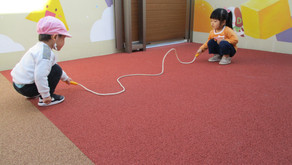 We played with a jump rope!