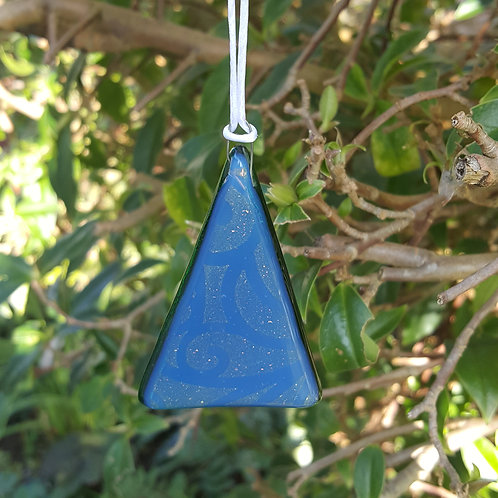 Blue Gold Tribal Green Tree Decoration/Gift Tag