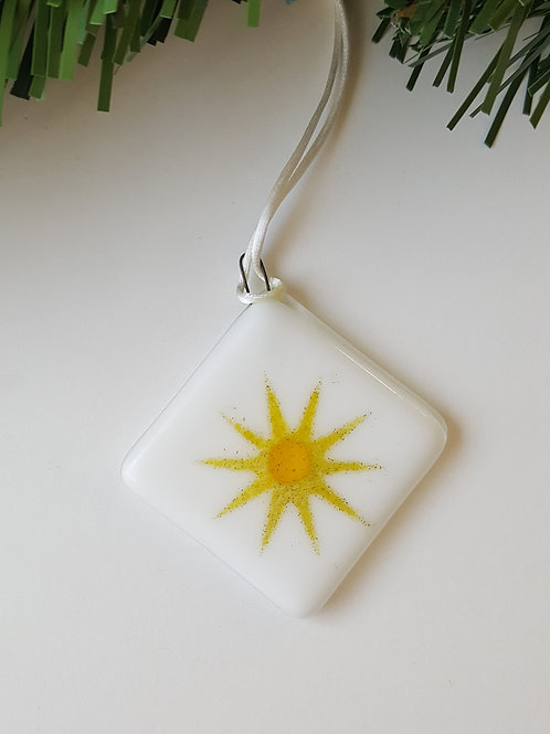 Gold and White Star Tree Decoration/Gift Tag