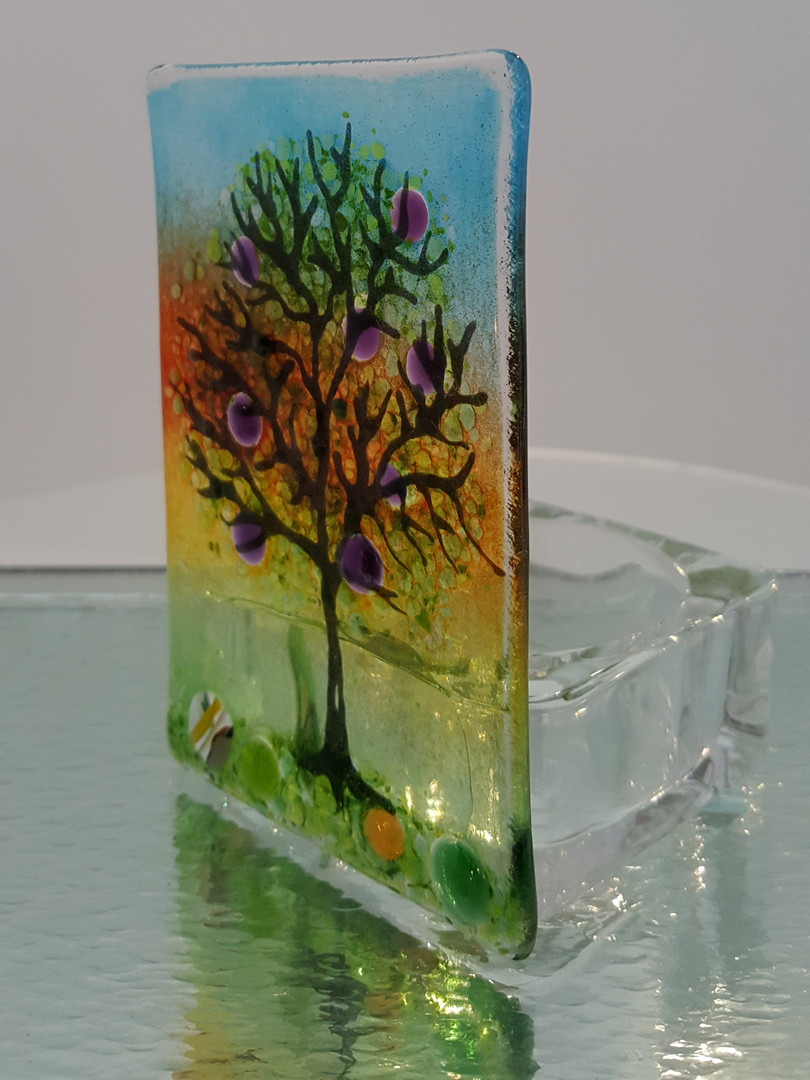 Sunset tree tealight holder