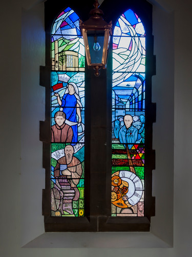 Entire Maximillian Kolbe Window
