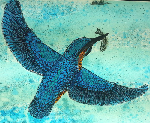 Kingfisher and fish splashback sample