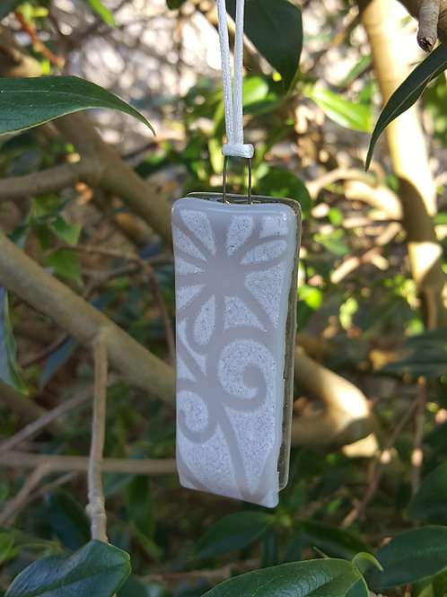 Tribal Grey Candle Style Tree Decoration/Gift Tag