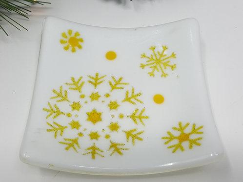 White Snowfall Dish