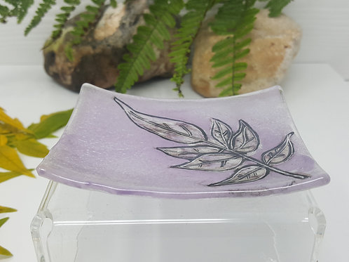 Pink Clematis Soap Dish