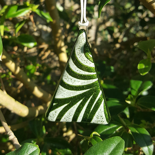 Tribal Green Tree Decoration/Gift Tag