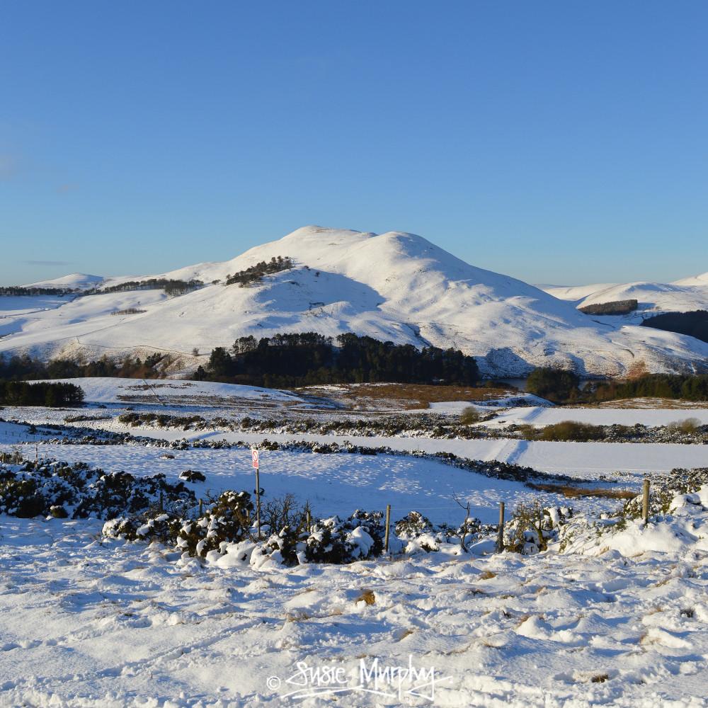 Snowy Pentland Hills