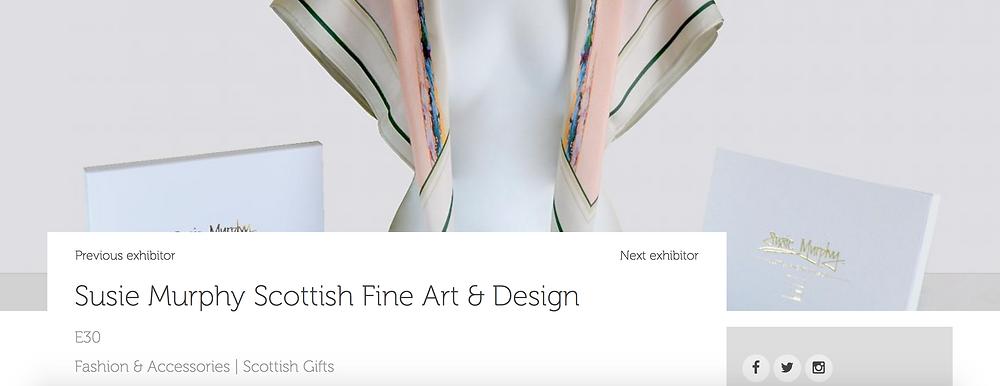 Luxury Silks showcased at Scotland's Trade Fair
