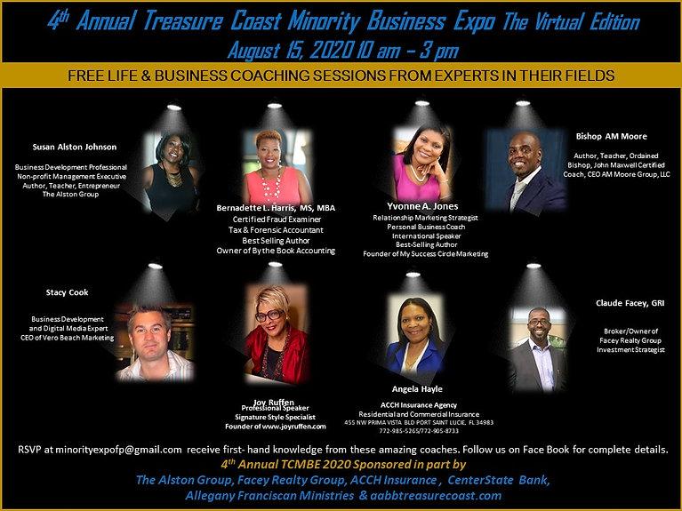 TCMBE 2020  Event Virtual Schedule - Coa