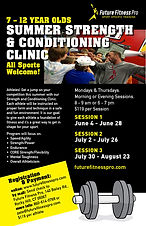 Summer Strength and Conditioning Clinic for 7-12 year olds