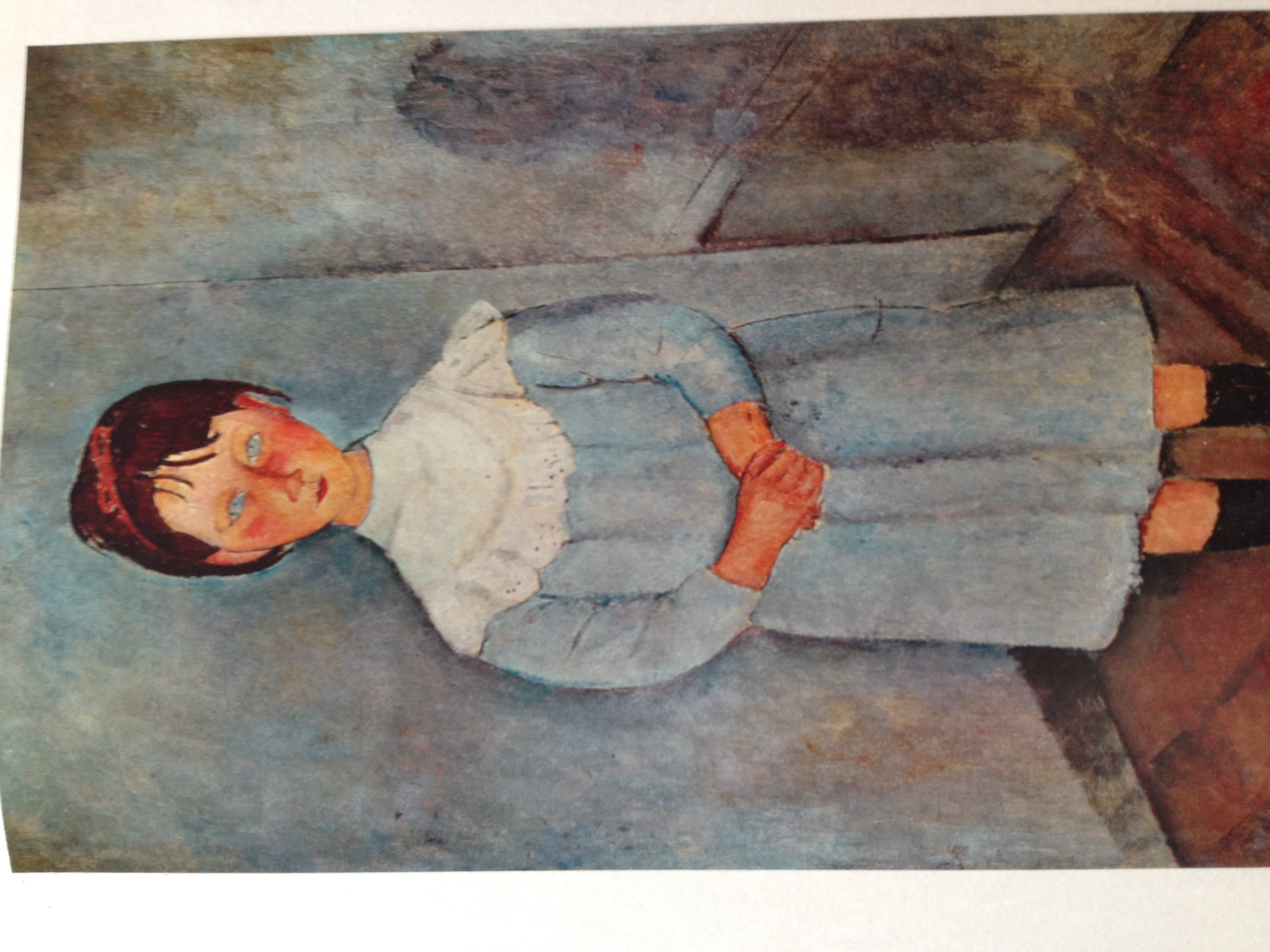 Fillette en bleu - Modigliani 1918