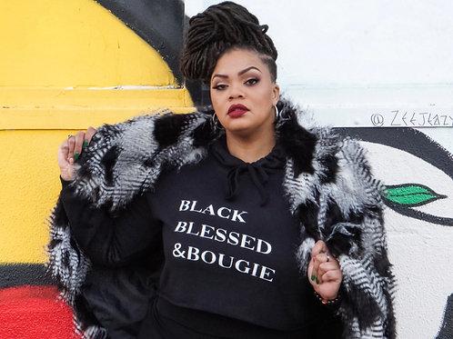 Black Blessed & Bougie Crop Top