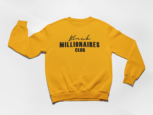 Black Millionaires Club Sweatshirt Gold