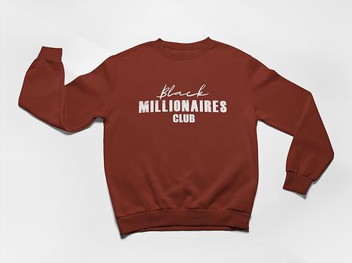 Black Millionaires Club Sweatshirt Burgandy