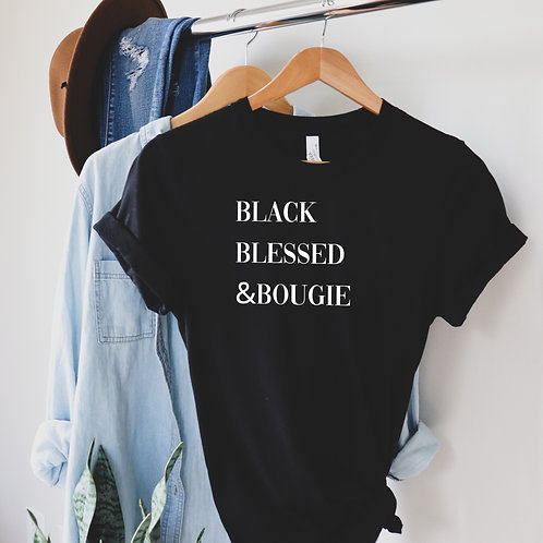 Black Blessed & Bougie T-Shirt
