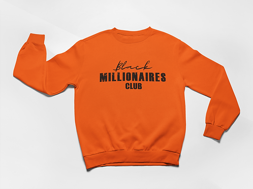Black Millionaires Club Sweatshirt Orange