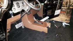 Custom truck floor and console