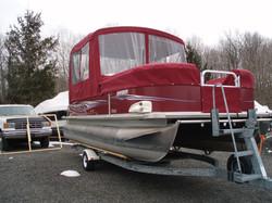 Pontoon boat cover